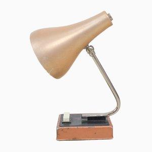Kleine Kupfer Tischlampe, 1950er