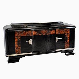 Buffet Art Déco grande con detalles de madera nudosa