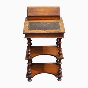 Victorian Mahogany Davenport Desk with Turned Columns