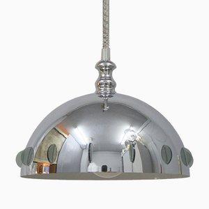 Lámpara colgante italiana de altura ajustable, años 60