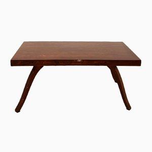 Tavolo da pranzo Art Déco in legno di noce, anni '30