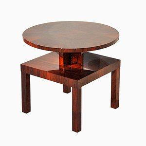 Tavolino Art Déco in mogano e legno di noce, anni '30