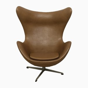 Egg Lounge Chair in Leather by Arne Jacobsen for Fritz Hansen, 1964