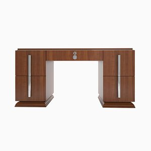 Art Deco Walnut & Chrome Desk