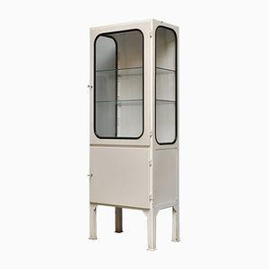Vintage Steel and Glass Medical Cabinet, 1970s