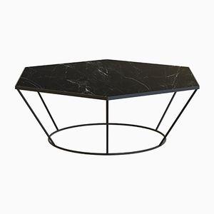 Table Basse SEI avec Marbre Noir par Alex Baser pour MIIST