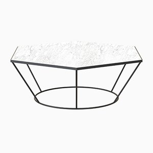 SEI Black Coffee Table with White Marble by Alex Baser for MIIST