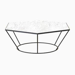 Table Basse SEI Noir avec Marbre Blanc par Alex Baser pour MIIST