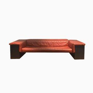 Cognac Brigadier 3-Sitzer Leder Sofa von Cini Boeri für Knoll, 1974