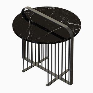 Table Basse MEISTER avec Marbre Noir par Alex Baser pour MIIST