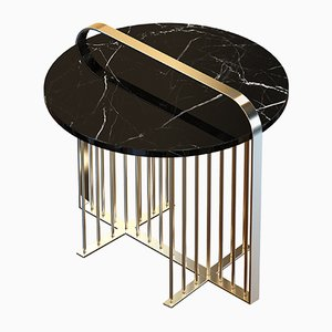 MEISTER Brass-Plated Coffee Table with Black Marble by Alex Baser for MIIST