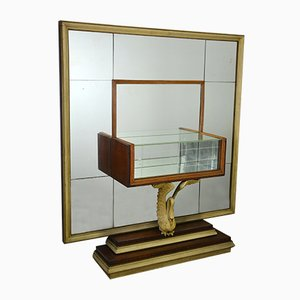 Large Mid-Century Console with Mirror