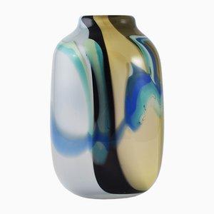 Französische Vintage Glas Vase von Florence Seydoux & Claude Morin