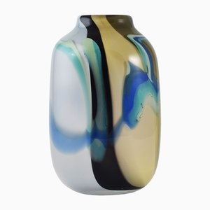 Vintage French Glass Vase by Florence Seydoux & Claude Morin