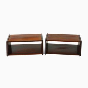 Danish Rosewood Bedside Tables, 1960s, Set of 2