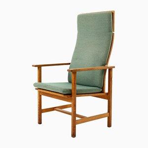 Modell 2258 Eichenholz Armlehnstuhl von Borge Mogensen für Fredericia Stolefabrik, 1950er