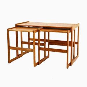 Teak Nesting Tables by Arne Hovmand Olsen for Mogens Kold, 1960s