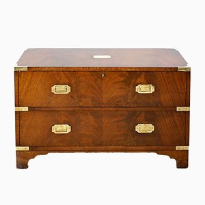 Mahogany Ship Chest with Brass Fittings, 1930s