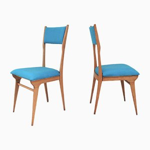 Chairs by Carlo De Carli, 1950s, Set of 2