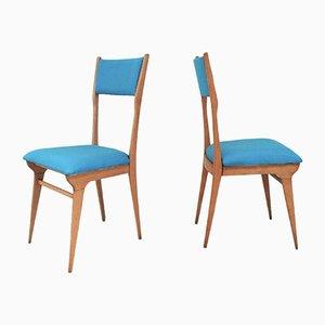 Stühle von Carlo De Carli, 1950er, 2er Set