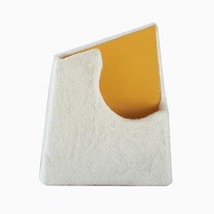 Agari Vase in Weiß & Gelb von Piloh
