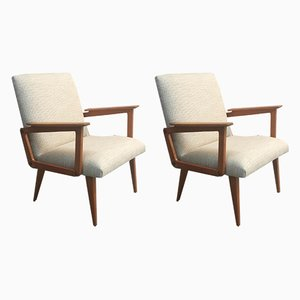 Armchairs by Robert Debiève for Le Bois Béarnais, 1956, Set of 2