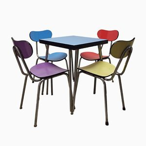 French Bistro Table and 4 Chairs, 1960s