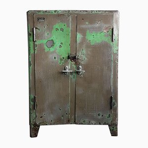 Industrial Polish Iron Cabinet, 1950s