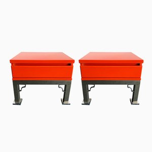Italian Lacquered Side Tables from Dal Vera, 1980s, Set of 2