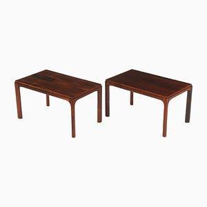 Danish Rectangular Side Tables by Kai Kristiansen for Aksel Kjersgaard, 1960s, Set of 2