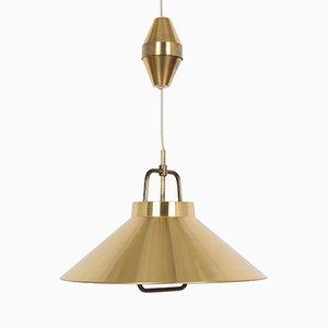 Lampada a sospensione in ottone di Fritz Schlegel per Lyfa, anni '70