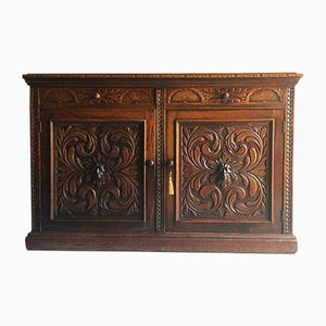 Victorian Credenza in Solid Oak, 1870s