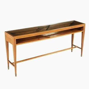 Italian Rosewood Veneered Console Table, 1950s