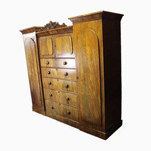 Victorian Carved Mahogany Wardrobe