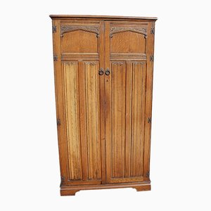 Carved Oak Wardrobe from Ercol, 1960s