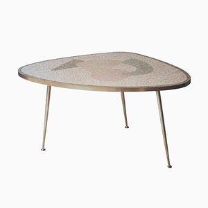 Tavolino con ripiano a mosaico, anni '60