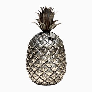 Italian Metal Pineapple Ice Bucket by Mauro Manetti, 1970s