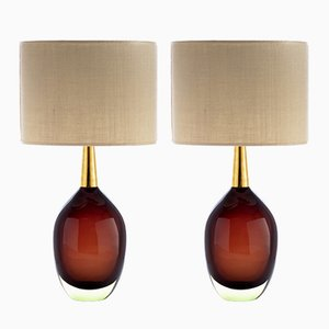 Sommerso Murano Glass Table Lamps from Seguso Vetri d'Arte, 1955, Set of 2