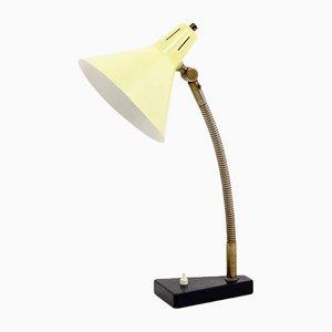 Lampada da tavolo gialla di Busquet per Hala, anni '50