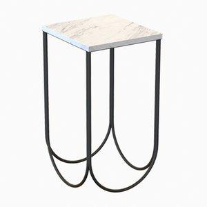 Tavolino OTTO in acciaio e marmo di Carrara di Alex Baser per MIIST
