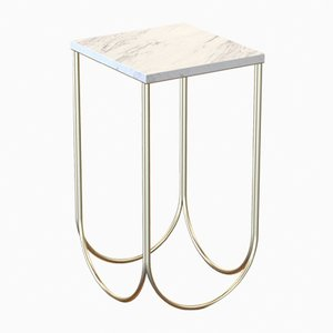 OTTO Side Table in Powder-Coated Steel & Carrara Marble by Alex Baser for MIIST