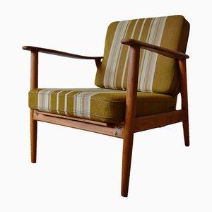 Vintage Danish Teak & Beech Easy Chair