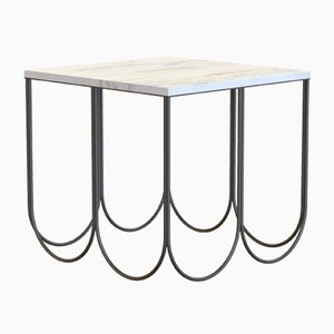 OTTO Coffee Table Small in Powder-Coated Steel & Carrara Marble by Alex Baser for MIIST