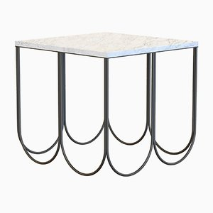 OTTO Coffee Table in Black with White Marble Top by Alex Baser for MIIST