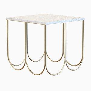Mesa de centro OTTO de acero con tablero de mármol blanco de Alex Baser para MIIST