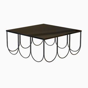 OTTO Couchtisch aus pulverbeschichtetem Stahl & schwarzem Glas von Alex Baser für MIIST