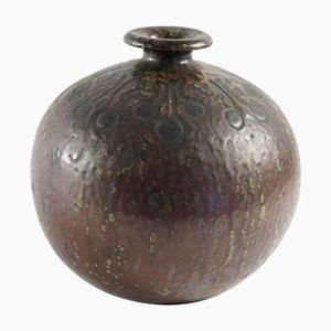 Art Deco Keramik & Emaille Vase, 1930er