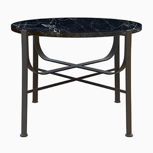 Table Basse MERGE Noire avec Marbre Noir par Alex Baser pour MIIST
