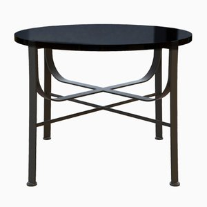 MERGE Coffee Table in Powder-Coated Steel & Black Glass by Alex Baser for MIIST