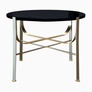 MERGE Coffee Table Small in Brass-Plated Steel & Black Glass by Alex Baser for MIIST